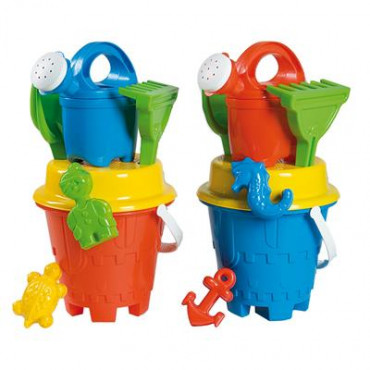 Sand Bucket Set With Watering Can 17Cm