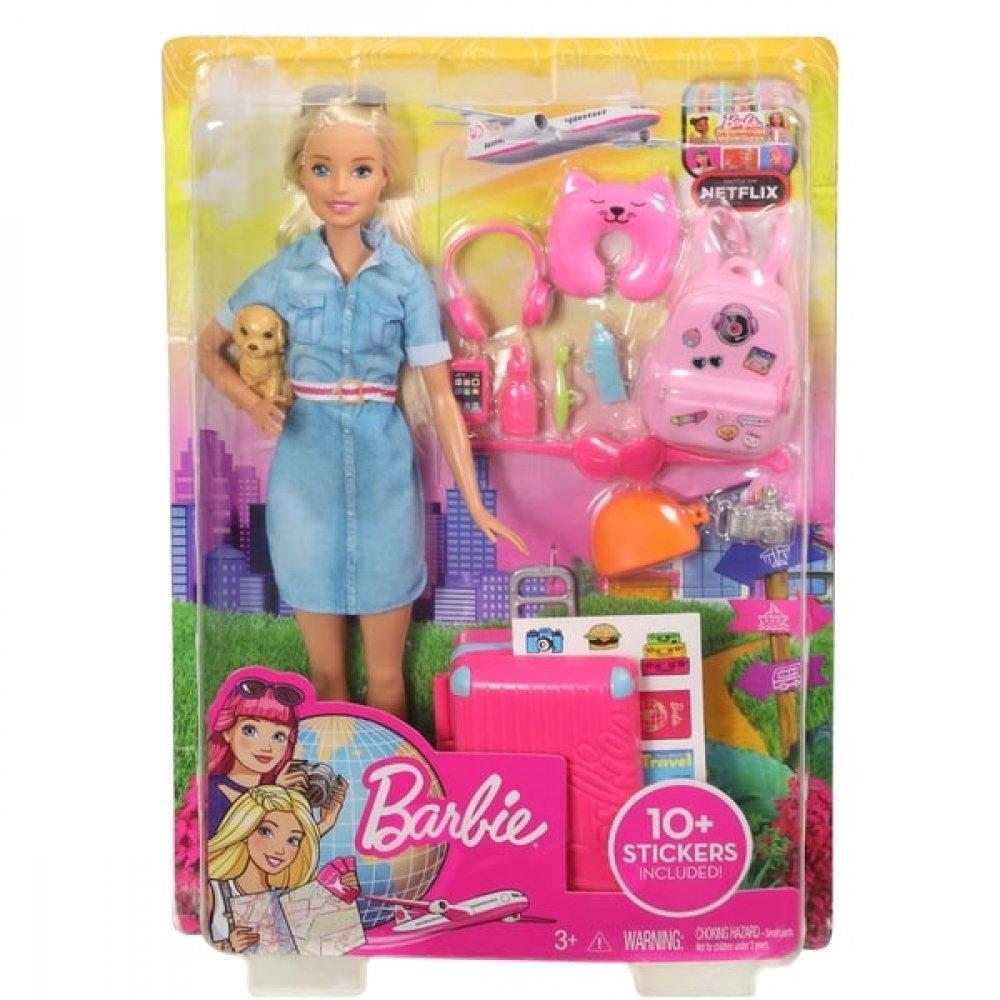 Barbie Travel Lead Doll