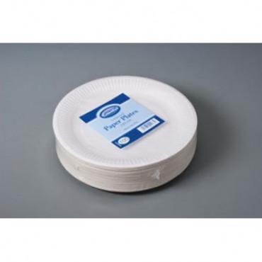 Paper Plates Pk 100 White