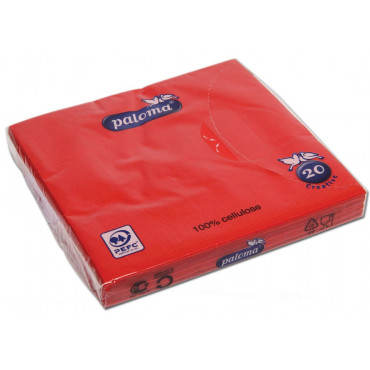 Table Napkins Red Pk 20