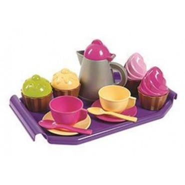 Tea Set On Tray Cup Cake Set