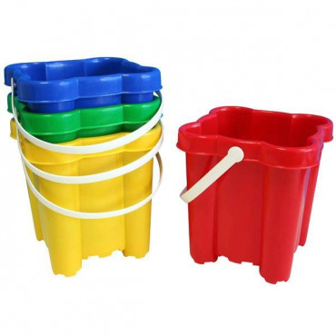 Sandcastle Bucket Asst Colours- Specify Which Colour