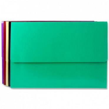A4 Document Wallet 5 Assorted