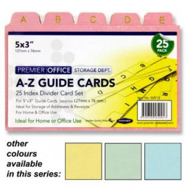 Index Cards 6X4 A to Z Guide