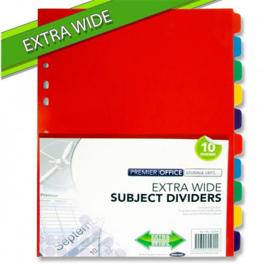 Subject Dividers Extra Wide Pk10