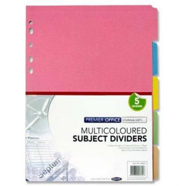 Multicoloured Card Subject Dividers