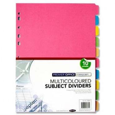 Subject Dividers Pastel 10Pk