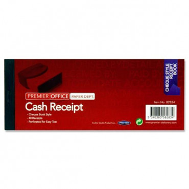 Cash Receipt Book 3X8Inch