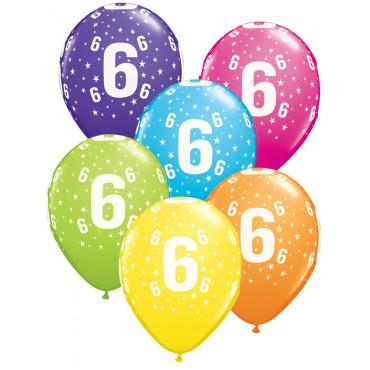 Balloons 6Th Birthday Pk 10 Assorted