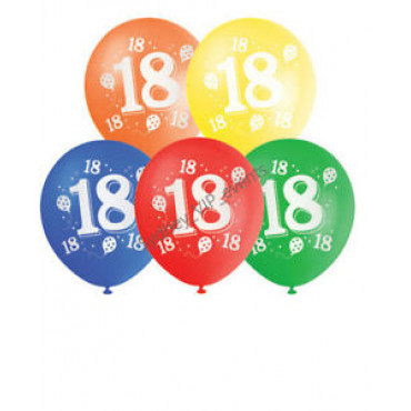 Balloons 18Th Birthday Pk 10 Assorted