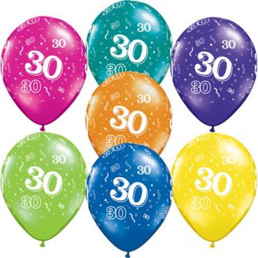 Balloons 30Th Birthday Pk10 Assorted