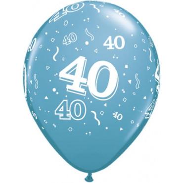 Balloons 40Th Birthday Pk 10 Assorted