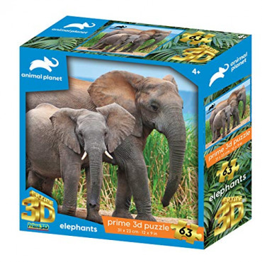 Animal Planet Elephants 63 pce Puzzle