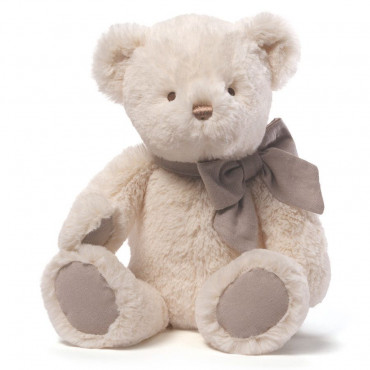 15 Inch Cream Bear With Grey Foot Pads