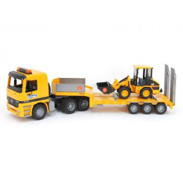 Low Loader Truck With Cat Wheel Loader