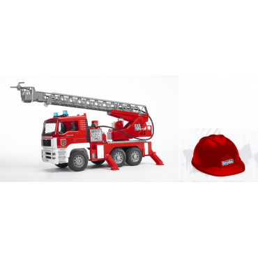 Fire Engine Light and Sound with Red Toy Helmet