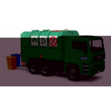 Garbage Truck Green Bruder