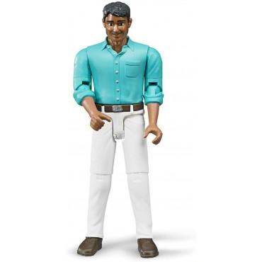 Bruder Figure Man White Jeans