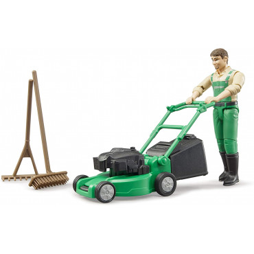 B World Gardener With Mower
