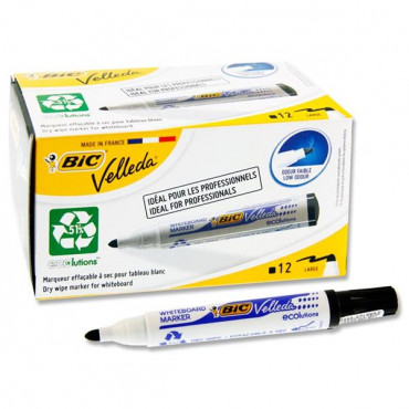 Bullet Tip Whiteboard Marker - Black