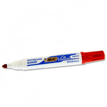 Bullet Tip Whiteboard Marker - Red