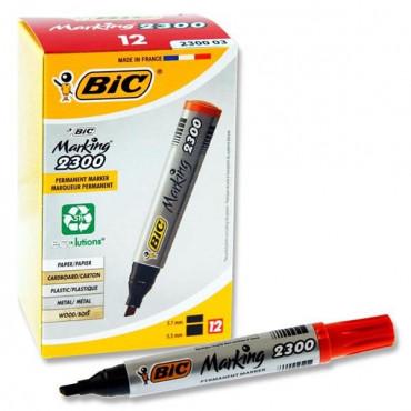 Bic Chisel Tip Permanent Marker- Red