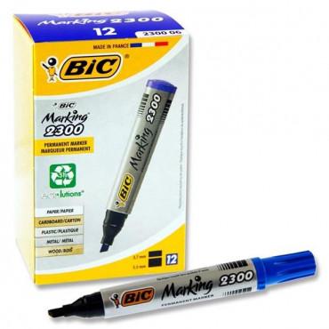 Bic Chisel Tip Permanent Marker- Blue