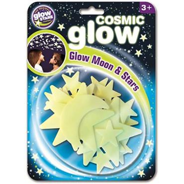 Cosmic Glow Moon And Stars