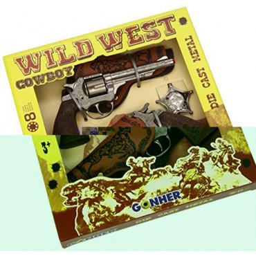 Gun Set Twin Wild West Gonher