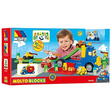 Truck With 10  Blocksand Electronic Car Large