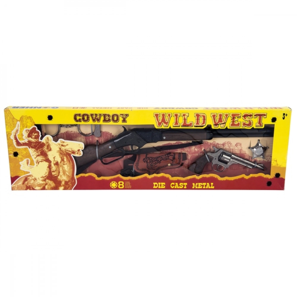 Cowboy Play Set 8 Plus Rifle