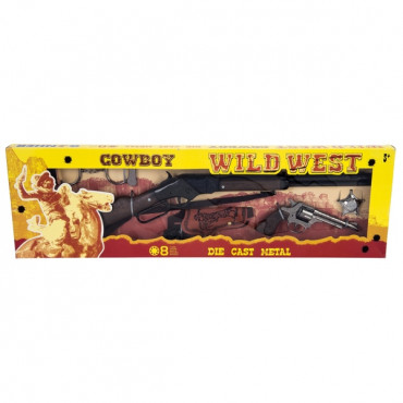 Cowboy Play Set 8 Plus Rifle