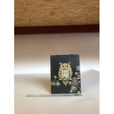 Owl Black Gift Bag Small