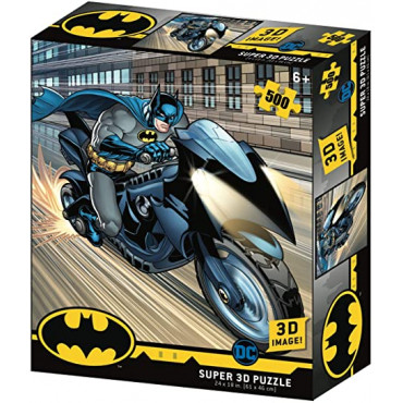 Batman Batcycle 500pc Prime 3D Jigsaw