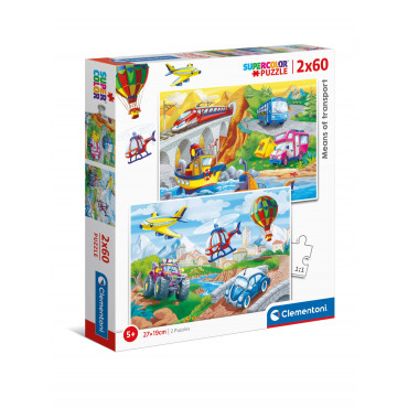 2 x 60pc Puzzle - Means of Transport