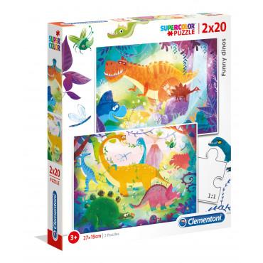 2 x 20pc Puzzle - Funny Dinos