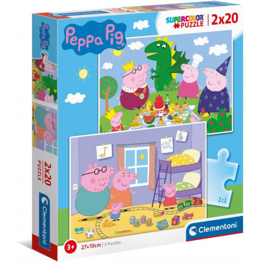 2 x 20pc Puzzle - Peppa Pig