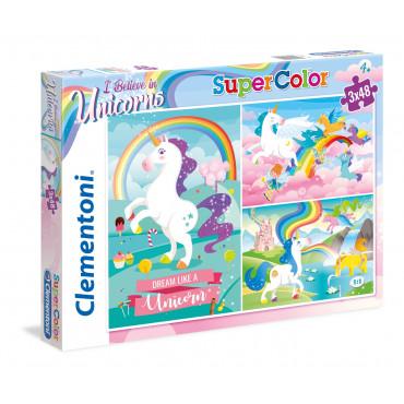3 x 48pc Puzzle - I Believe in Unicorns