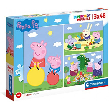 3 x 48pc Puzzle - Peppa Pig