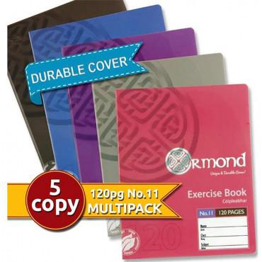 Durable Cover Copy Books 120Pg 5Pk Girls