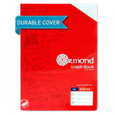 Graph Book with Durable Cover- 40 Pages A4