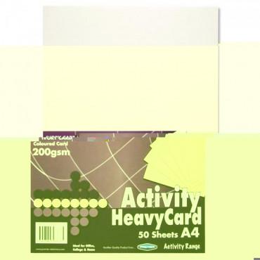 A4 Heavy Ivory Card 50Sheet