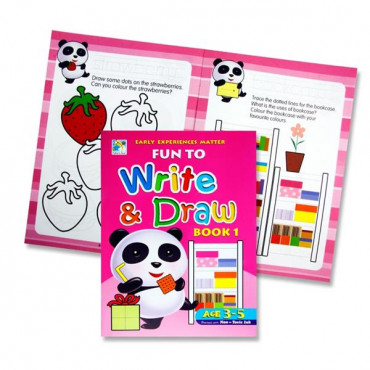 Fun To Write And Draw Activity Book 1- Age 3-5