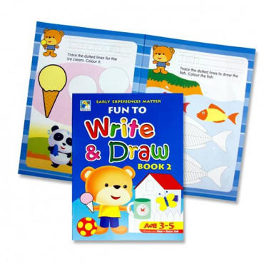 Fun To Write And Draw Activity Book 2- Age 3-5