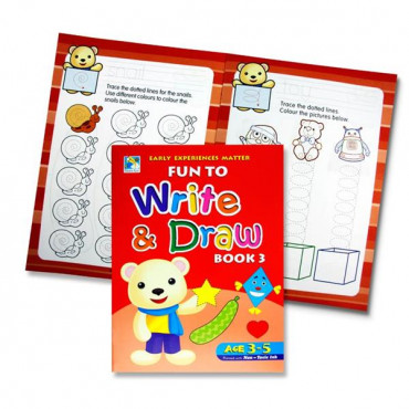 Fun To Write And Draw Activity Book 3 Age 3-5