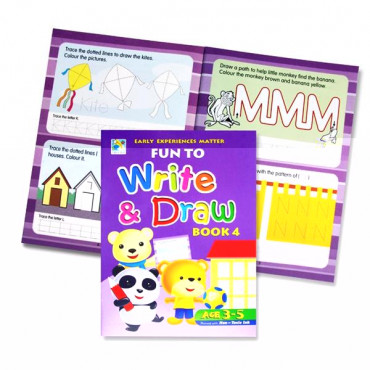 Fun To Write And Draw Activity Book 4- Age 3-5