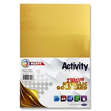 A4 Gold Metallic 25 Sheets 210gsm