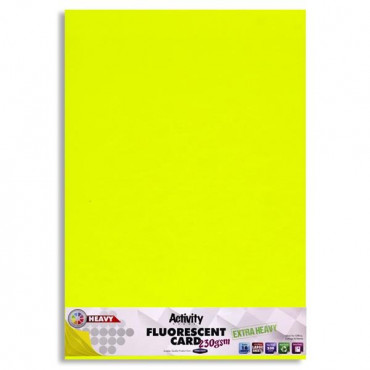 A2 Fluorescent Card Extra Strong