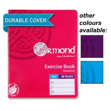 88Pg Copy Book Plastic Cover Girls