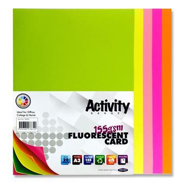 A3 Fluorescent Card Cyber Pk 20